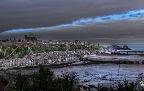 Picture sea, shore, Cancale Brittany