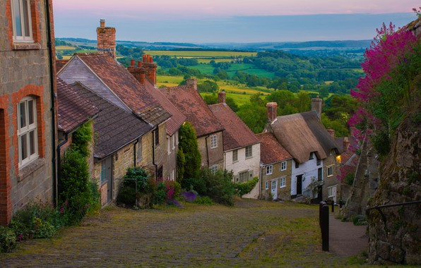 Picture landscape, the city, street, England, home, Shaftesbury