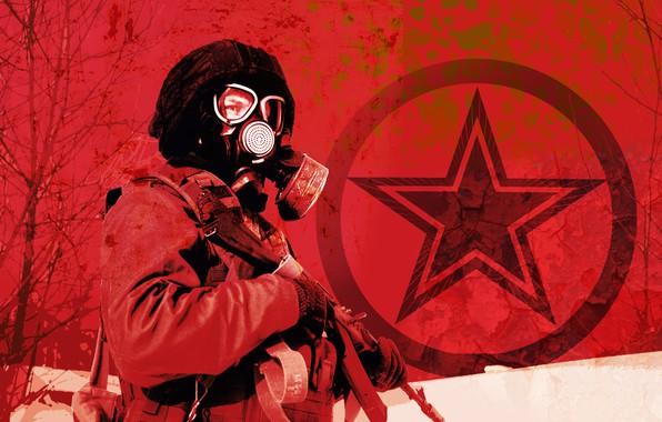 Picture metro, star, star, metro 2033, metro 2033, 2033, red sky, AK-103, metro Exodus, LSS-2дтм, metro …
