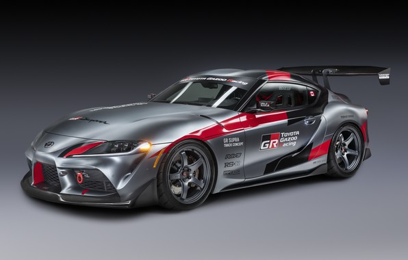 Picture auto, grey, background, coupe, Toyota, 2020, GR Supra Track Concept