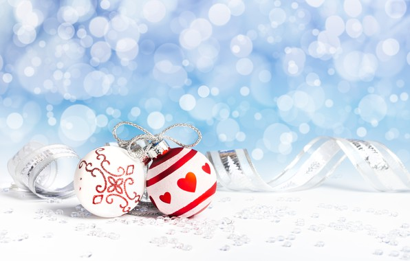 Picture background, holiday, balls, new year, tape
