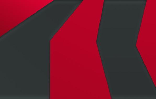 Picture line, red, grey, black, minimalism