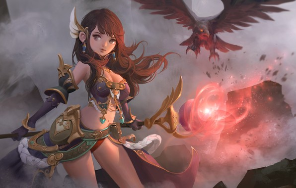Picture anime, fantasy, art, MAG, staff, choi keun hoon, Lineage Red Knights
