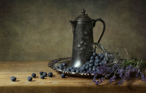 Picture Lavender, Still Life, Blueberries
