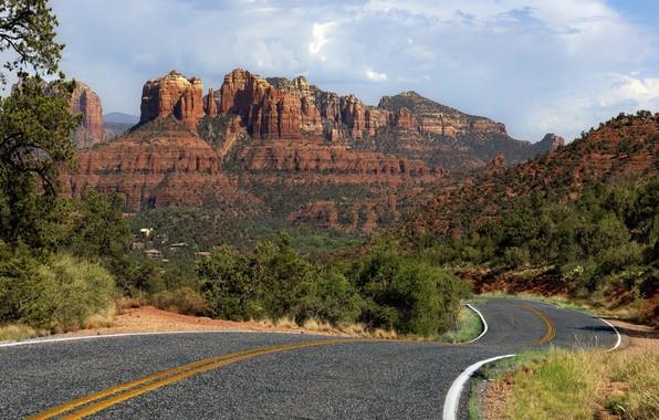 Picture road, landscape, mountains, nature