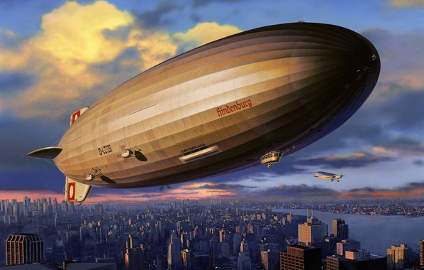 Picture Germany, The airship, The Hindenburg, LZ 129