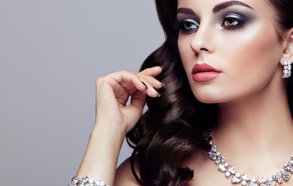 Picture girl, style, hand, portrait, makeup, bracelet, necklace, Oleg Gekman