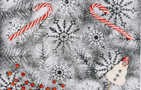 Picture winter, snow, decoration, snowflakes, background, New Year, Christmas, Christmas, winter, snow, New Year, snowflakes, decoration, ...