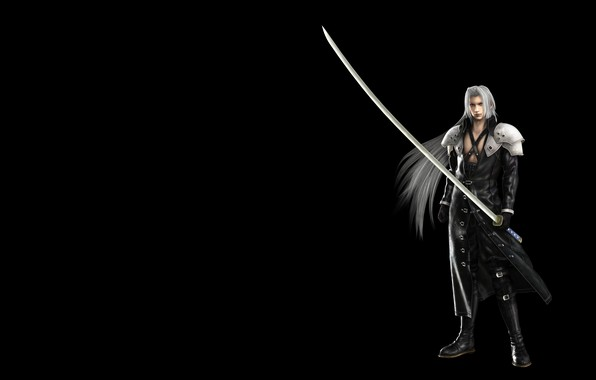 Picture anime, art, Final Fantasy, finalka, Sephiroth, Sephiroth