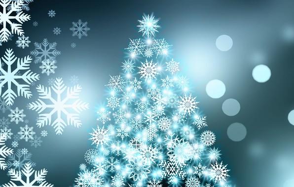 picture snowflakes new year herringbone