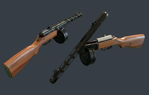 Picture Legend, PPSH-41, Submachine gun Shpagina