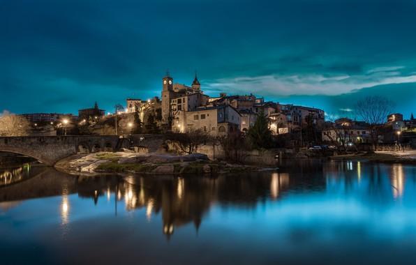 Picture lights, the evening, Spain, Catalonia, Gironella, Gironella