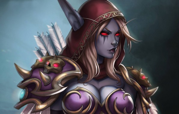 Picture girl, WOW, elf, Sylvanas Windrunner, Sylvanas Windrunner, World of WarCraft, Banshee