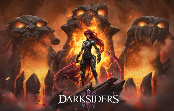 Picture chain, game, Rage, horseman of the Apocalypse, Fury, Darksiders III, the charred Council