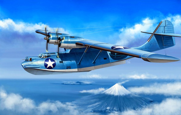 Picture anti-submarine, PBY Catalina, Flying boat, Maritime patrol bomber