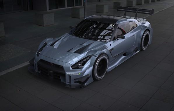 Picture Auto, Machine, Nissan, GT-R, Rendering, Concept Art, Nissan GT-R, NISMO, Sports Car, Transport & Vehicles, …