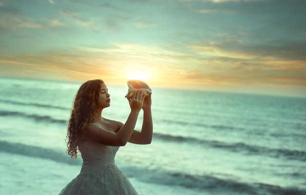 Picture sea, wave, the sun, surf, girl, Edie Layland