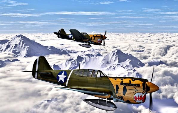 Picture 1942, Warhawk, P-40E, ''Aleutian Tigers'', 11th FS, 343rd FG, 11th US Army Air Force
