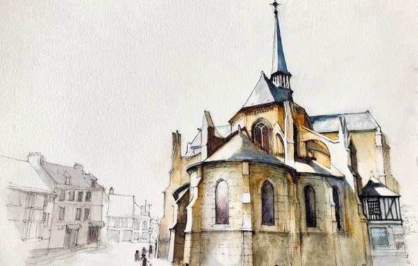 Picture figure, Normandy, Les Andelys, Noyers