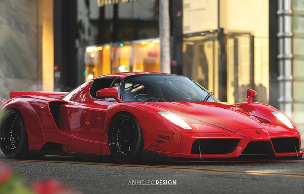 Picture Auto, Machine, Ferrari, Car, Art, Ferrari Enzo, Enzo, Supercar, Concept Art, Sports car, Transport & …