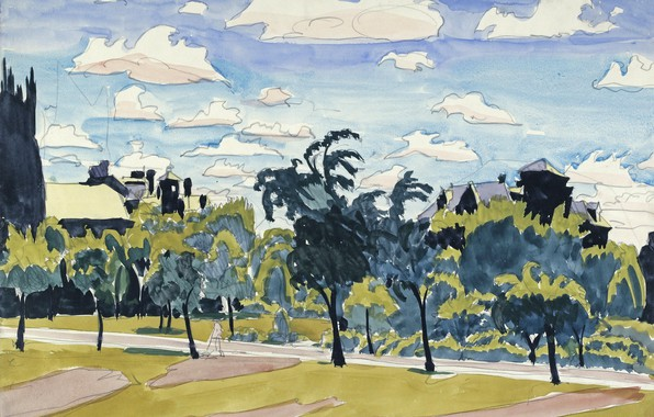 Picture 1916, Charles Ephraim Burchfield, May Clouds