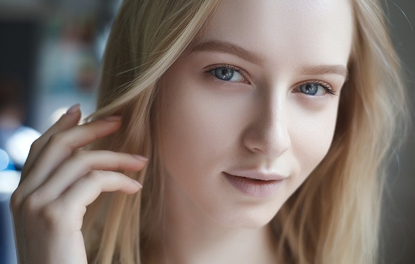 Picture girl, Model, long hair, photo, blue eyes, lips, face, blonde, portrait, mouth, close up, looking …