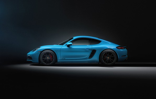 Picture Auto, Blue, Porsche, Machine, Cayman, Blue, Car, Rendering, Side view, Transport & Vehicles, Sergey Poltavskiy, …