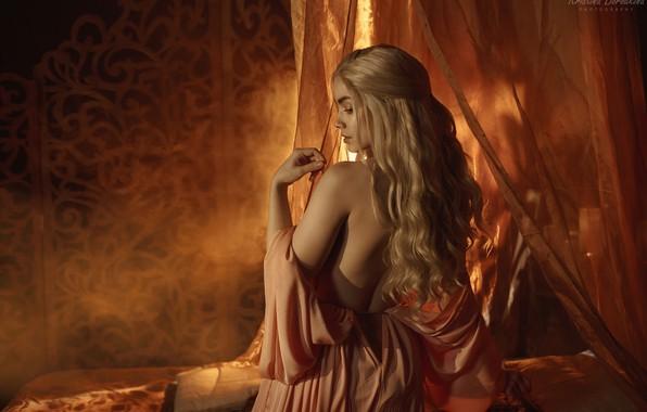 Picture cosplay, Game of Thrones, Catherine Semadeni, Kristina Borodkina, DaenerysTargaryen