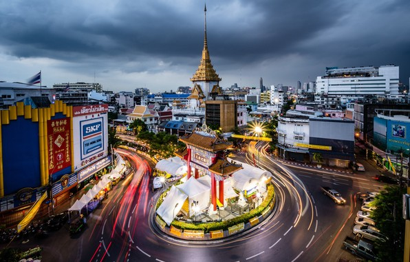 Picture road, the city, Thailand, Bangkok, the view from the top