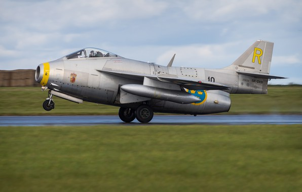 Picture Fighter, Landing, WFP, Chassis, The Saab 29 Fighter, You CAN, Swedish air force