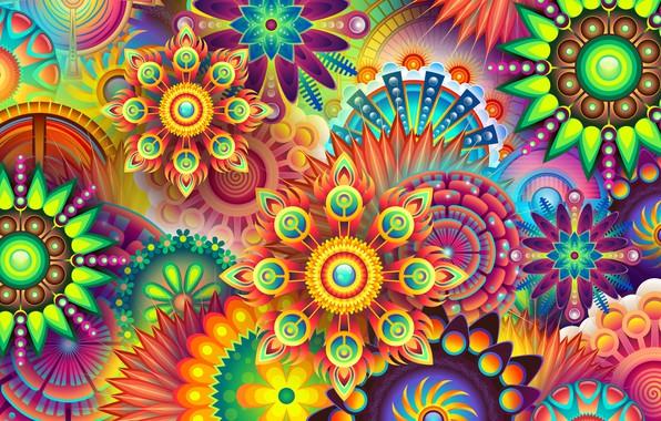 Picture flower, pattern, paint, symmetry
