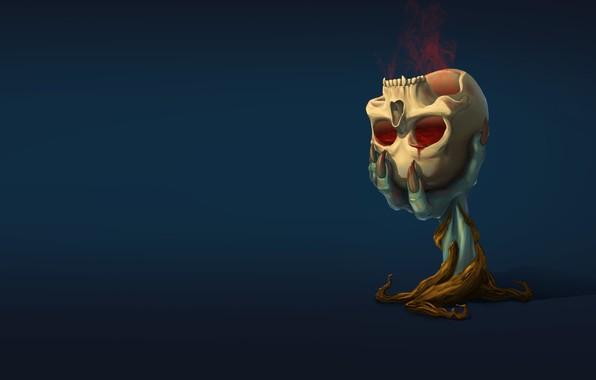 Picture skull, minimalism, ritual, fantasy, art, smirnovschool, Valera Il in, Ritual witch's goblet