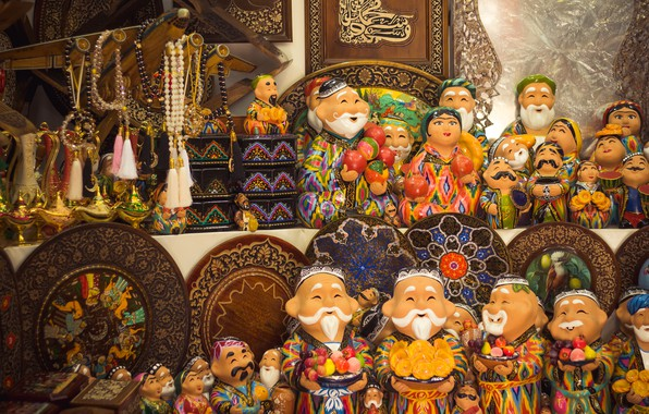 Picture east, uzbekistan, ornament, tashkent, old city, national shop, memories, wooden goods, babaychik