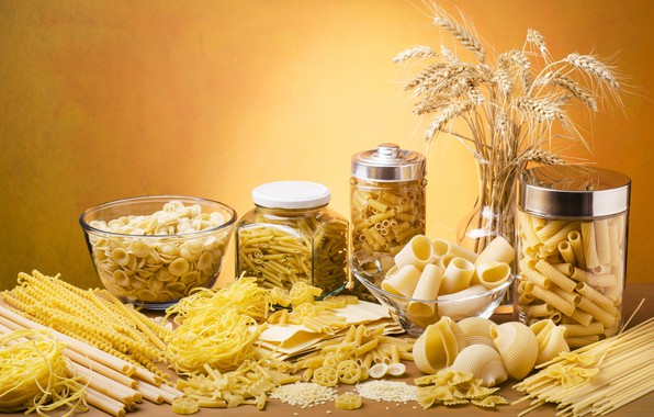 Picture spikelets, banks, pasta