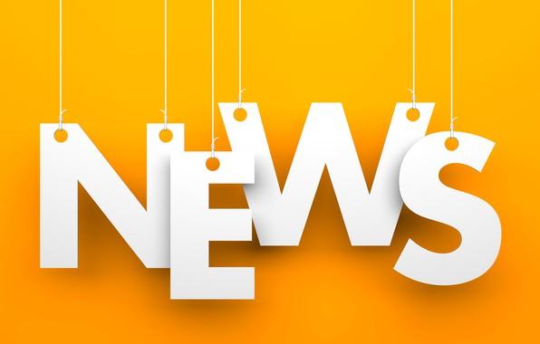 Picture orange, letters, background, white, news, words, orange, fon, news