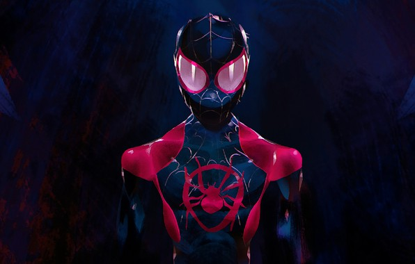 Picture Art, Marvel, Spider-Man, Miles Morales, Ultimate Spider-Man, Miles Morales, Spider Man:Into The Spider-Verse