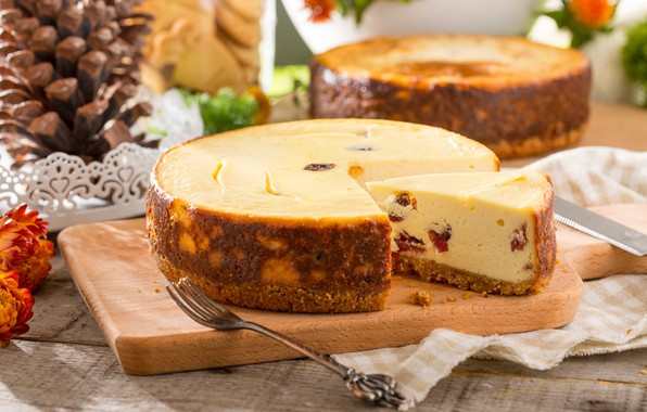 Picture dessert, cakes, vanilla, cheese, raisins, casserole