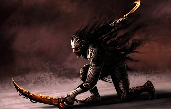 Picture Prince of Persia: Warrior Within, swords, the mask of time, wrath of the Sands, sand …