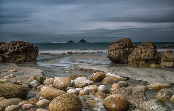 Picture sea, nature, stones, coast