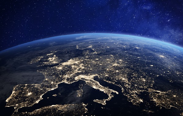 Picture lights, Europe, planet earth