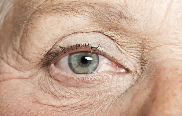 Picture eye, wrinkles, grandmother, elderly