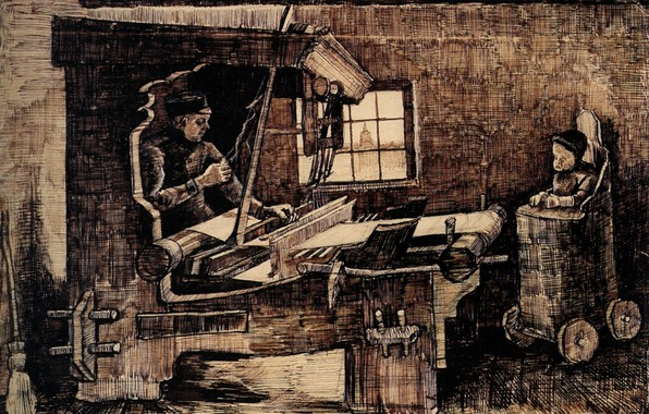 Picture Weaver, Vincent van Gogh, with a Baby in a Highchair