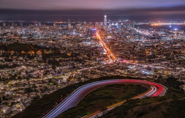 Picture the city, lights, San Francisco
