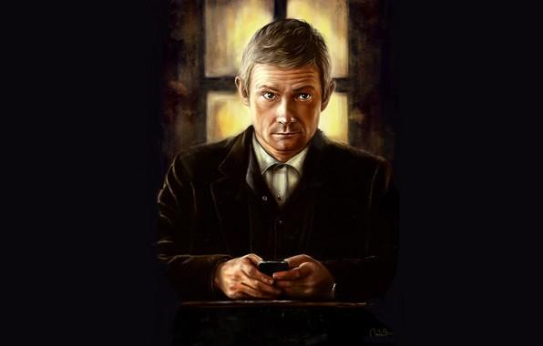 Picture Martin Freeman, Sherlock, Sherlock BBC, Sherlock Holmes, John Watson, by andycwhite