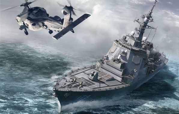 Picture Japan, destroyer, Atago, JMSDF DDG Ashigara, DDG-178, missile destroyer