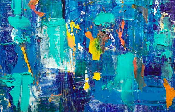 Picture abstraction, paint, canvas, strokes, abstraction, paint, canvas, brush strokes