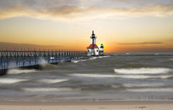 Picture Lighthouse, Michigan, Saint Joseph