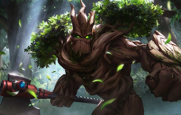 Picture the game, hammer, fantasy, art, Grover, XiaoGuang Sun, Treebeard