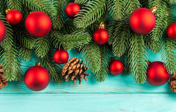 Picture decoration, balls, New Year, Christmas, Christmas, balls, wood, New Year, decoration, xmas, Merry, fir tree, ...