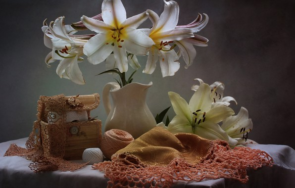 Picture flowers, Lily, still life